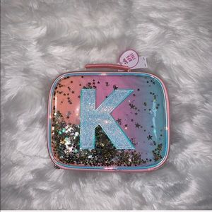 Justice Girls Ombre Letter K Shaky Lunch Box